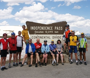 All of us the top of the Independence Pass