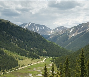 The flatter part of the Independence Pass descent