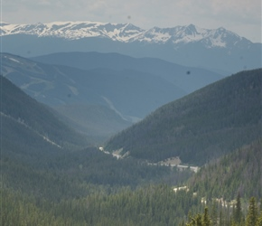 Looking back, 2 miles from the summit of Loveland Pass