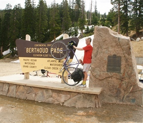 Neil at the Continental Berthoud Pass Sign