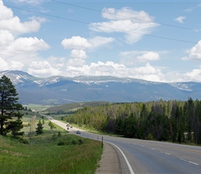 View back from the climb out of Winter Park (about 8 miles south)