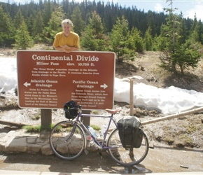 Neil atop Milner Pass/Continental Divide