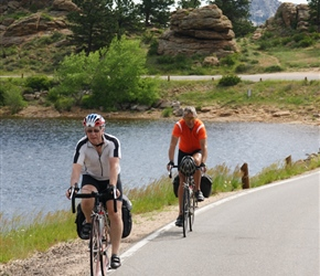 Phil and Paul head out of Estes Park