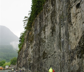 Quite amazing how these roads were built, overhanging cliffs at Eidevik