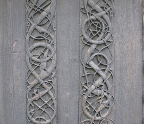 11th Century wood carving at Urnes Stave Church