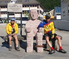 Colin and John meet the locals at Sogndal