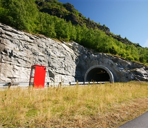Norway has a lot of tunnels. Built from oil revenue, they flatten out the main roads, leaving the old roads very quiet