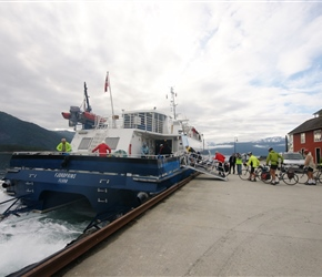 Loading the Express Ferry at Balestrand