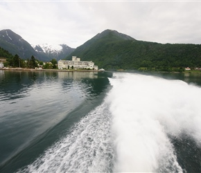 Balestrand from the Express Ferry