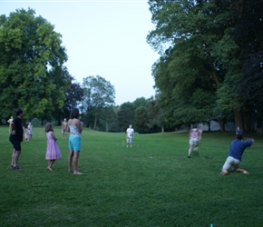 We had a game of rounders in the grounds in the evening