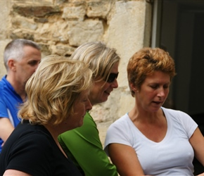 Pauline, Jo and Lesley in Bricquebec