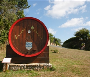 So you pass one decorative barrel in the French Countryside, peaceful isn't it?