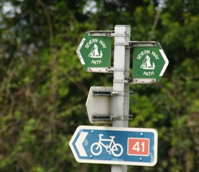 Follow the signposts. The towpath was wide and lovely ride