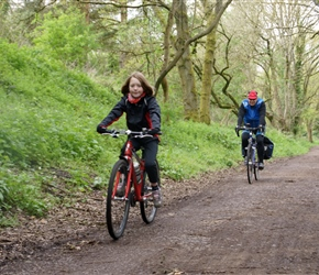 Abbie and Kevin along on cycle route 45 through Stroud