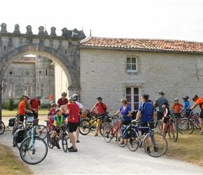 At the start at Chateau de Clerbise