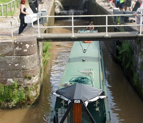 Barge moves into Bunbury Locks