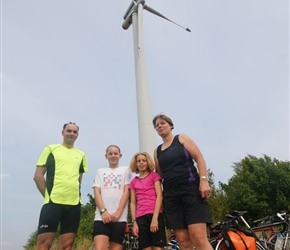 Smith family under the windmill