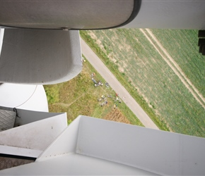 Yes it was a long way down. This was view through the gap between housing and rotor