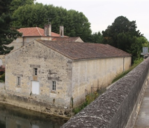 Nick Stevens crosses Charente River