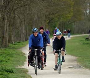 Nigel, William and Penny on Greenway to Stratford
