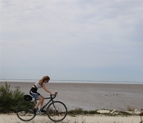 Abbie on coast cycleway