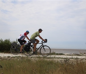 Kevin and Robin on coast cycleway