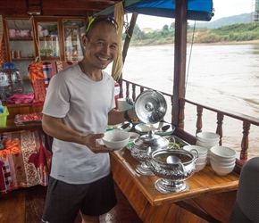 Sit with lunch, on the Mekong 2019