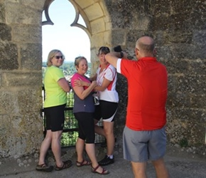 Jo, Pauline, Lester and Karen in Abbey Tower