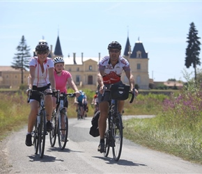 Karen, Millie, Robin and Chateau near Bordeaux