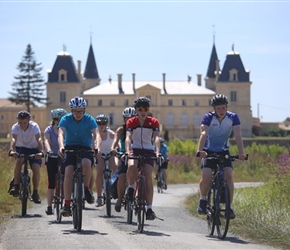Teenagers and Chateau near Bordeaux