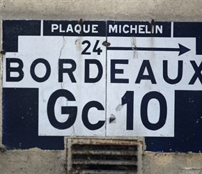 Michelin porcelain street sign