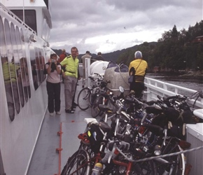 Jose and Rob with the bikes on the express ferry